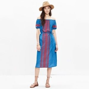 NWT Madewell Denim Market Mercado Dress Large
